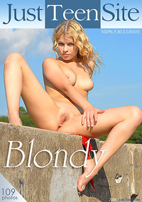 Blondy - In these photos, this teen opens her pussy so wide that the only thing left to the imagination is all of the things you want to