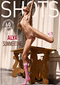 Alya Summertime - Alya just loves the feel of the sun on her naked skin