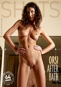 Orsi After Bath - Orsi wants you to join her in the bathroom