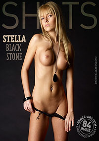 Stella Black Stone - Blonde Stella loves getting naked for you