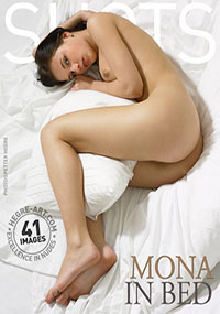 Mona in bed - Happy young girl stripping down to nothing on top of her own bed
