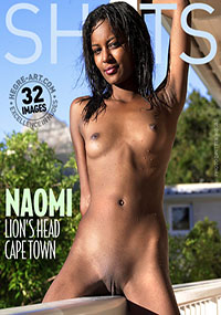 Naomi - Lions Head Cape Town - Luscious Naomi shows off her wet and naked dark skin overlooking Cape Town