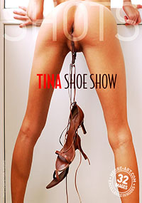 Tina Shoe Show - Tina has a use for shoes that most other girls don't! Are you brave enough to come and take a look?